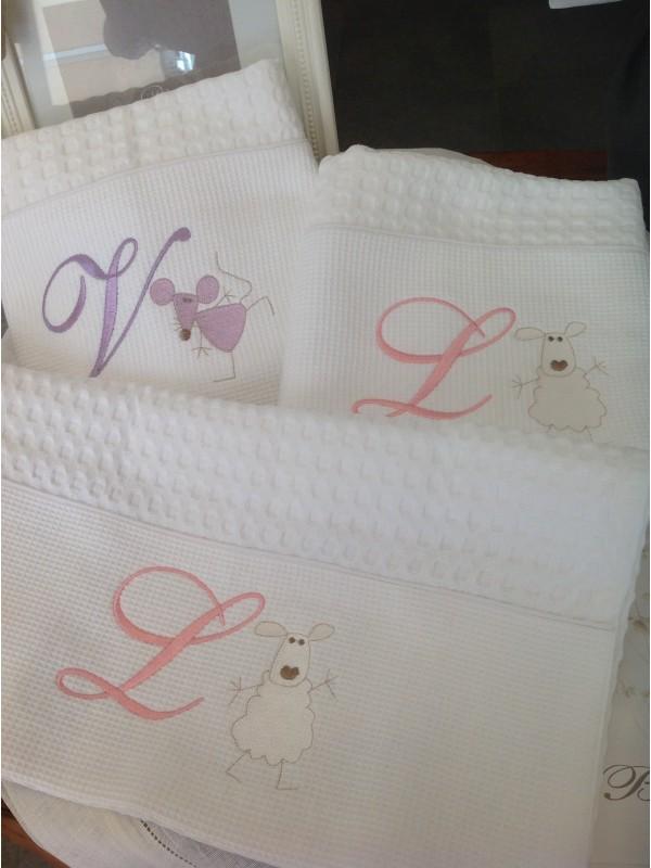 Coppia asciugamani nido ape